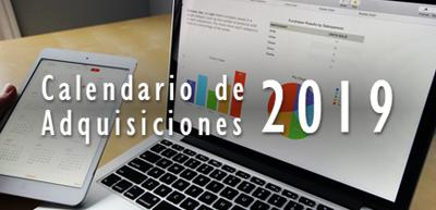 Calendario de Adquisiciones CONRICYT 2019
