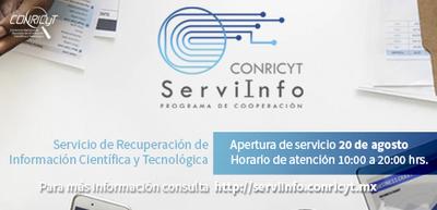 CONRICYT lanza el servicio de información científica y tecnológica (ServiInfo)