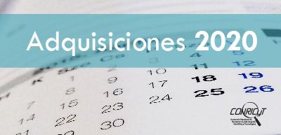 Calendario de Adquisiciones CONRICYT 2020