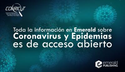 Emerald pone en acceso abierto todo su contenido sobre Coronavirus y epidemias